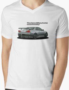 Skyline Tribute Mens V-Neck T-Shirt