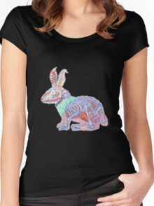 Disgruntled Rabbit Anatomy Women's Fitted Scoop T-Shirt