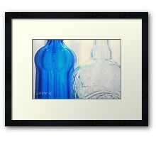 Glass - Forms Framed Print