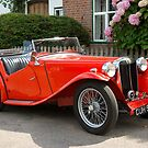 Red MG Car by Kawka