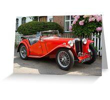 Red MG Car Greeting Card