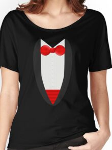 FormalFriday Tuxedo Shirt Women's Relaxed Fit T-Shirt