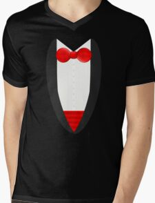 FormalFriday Tuxedo Shirt Mens V-Neck T-Shirt
