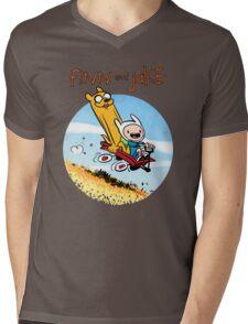 Finn and Jake Mens V-Neck T-Shirt