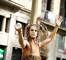 Tree Man - Barcelona Spain Street Performers by tamarakenyon