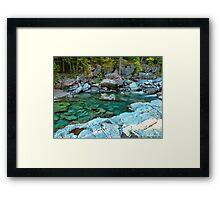 MacDonald Creek - Glacier National Park Framed Print