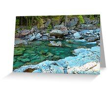 MacDonald Creek - Glacier National Park Greeting Card