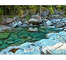 MacDonald Creek - Glacier National Park Photographic Print