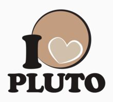 I Heart PLUTO (Black) by justinglen75