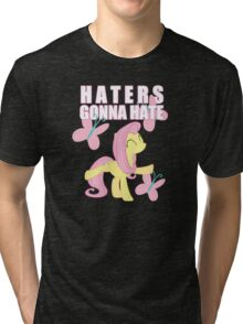 Fluttershy and butterflies Tri-blend T-Shirt