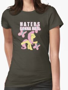 Fluttershy and butterflies Womens Fitted T-Shirt