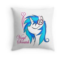 Vinyl Scratch (w/ smoke) Throw Pillow
