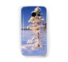 Snow covered trees in north Sweden Samsung Galaxy Case/Skin