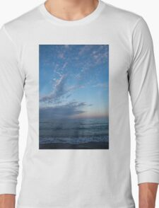 Pale Blues and Feathery Clouds in the Fading Light Long Sleeve T-Shirt
