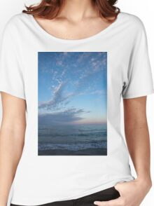 Pale Blues and Feathery Clouds in the Fading Light Women's Relaxed Fit T-Shirt