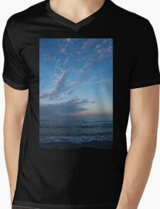 Pale Blues and Feathery Clouds in the Fading Light Mens V-Neck T-Shirt