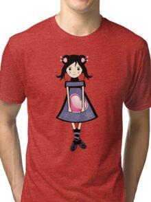 Sakura Japanese Girl Illustration Tri-blend T-Shirt