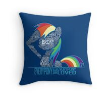 Brony Typography Throw Pillow