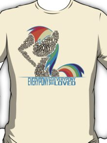 Brony Typography (white) T-Shirt
