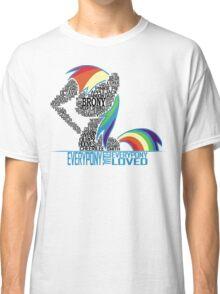 Brony Typography (white) Classic T-Shirt