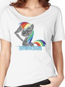 Brony Typography (white) Women's Relaxed Fit T-Shirt