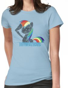Brony Typography (white) Womens Fitted T-Shirt