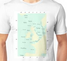 Shipping Forecast- Seaside colours Unisex T-Shirt