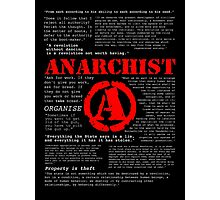 Anarchist Quotes Photographic Print