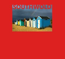 Royal Huts with Rainbow Southwold Suffolk Unisex T-Shirt