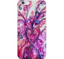 FUCHSIA PURPLE PINK HEART WITH WHIMSICAL FLOURISHES  iPhone Case/Skin