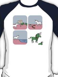 Unicorn and Narwhals as Triceratops - story T-Shirt