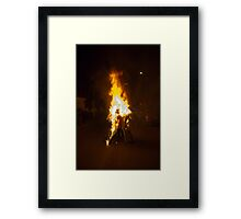 Burning Away Our Old Problems Framed Print