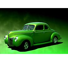 """1940 Ford Coupe """"Lime-Aide"""" Photographic Print"""