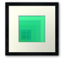 Grass Green Plaid Framed Print