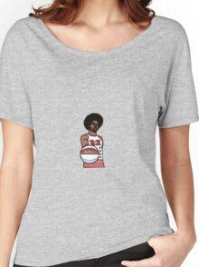 "Julius ""Dr. J"" Erving Philadelphia 76ers Cartoon Women's Relaxed Fit T-Shirt"
