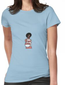 "Julius ""Dr. J"" Erving Philadelphia 76ers Cartoon Womens Fitted T-Shirt"