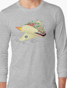 Taco Fighter Jet Long Sleeve T-Shirt