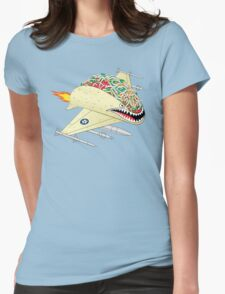 Taco Fighter Jet Womens Fitted T-Shirt