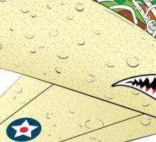 Taco Fighter Jet Sticker