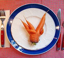 Mutant Carrot by Linda Woods