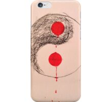bleeding ying yang iPhone Case/Skin