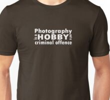 Photography is a hobby ... tee, white text T-Shirt