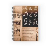 Antique School Collage Spiral Notebook