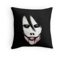 GO TO SLEEP - Jeff the Killer Throw Pillow