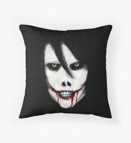 GO TO SLEEP - Jeff the Killer Throw Pillow