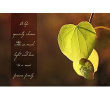 Adoption Card: Hearts of Love Photographic Print