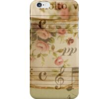 Pretty Teacup and Musical Notes iPhone Case/Skin