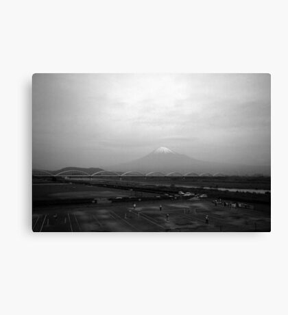 In Front of Mt Fuji Canvas Print