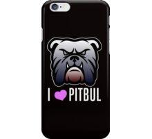 i love pitbul iPhone Case/Skin