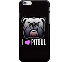 i love pitbul iPhone Case/Skin
